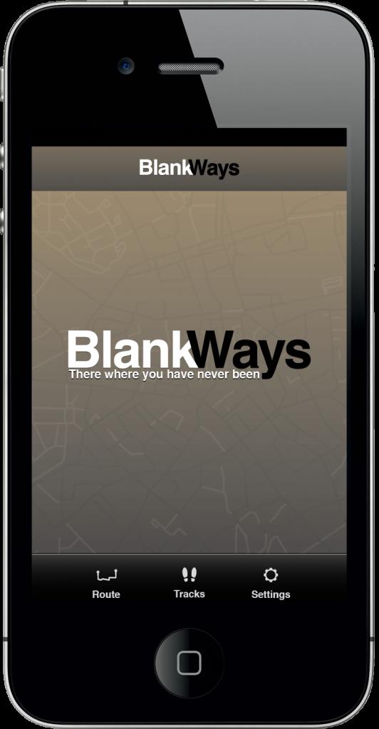 Blank Ways - Hoofdscherm